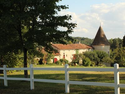 Photo for Idyllic country estate on 30 hectares of land amid the scenic hills of the Périgord