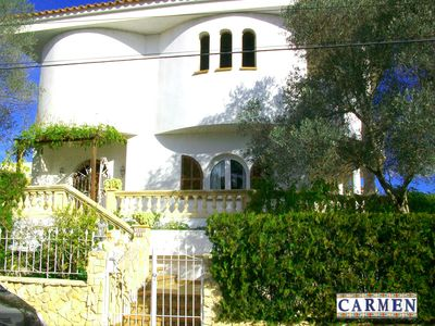Photo for Sea view, stylish, cozy villa with private pool, bicycles and Wi-Fi incl.