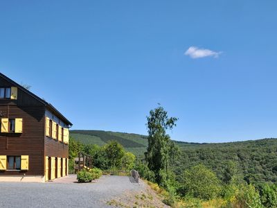 Photo for Holiday home with a panoramic view of the Ourthe, on a quietly located property