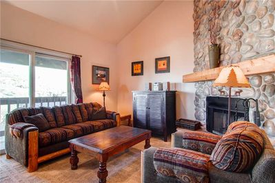 Cozy living room, view of Old Town - Park City Lodging-1052 Empire