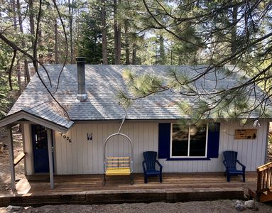 Photo for Secluded Tahoe cabin, minutes from skiing & the lake. Large yard & pet friendly!