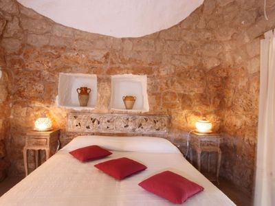 Photo for Vacation home trullo romantico in Torre San Giovanni - 2 persons, 1 bedrooms