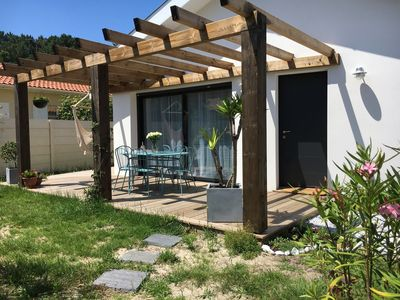 Photo for MODERN HOUSE 110m2 with GARDEN FLEURI 5 MIN FROM THE BEACH and shops