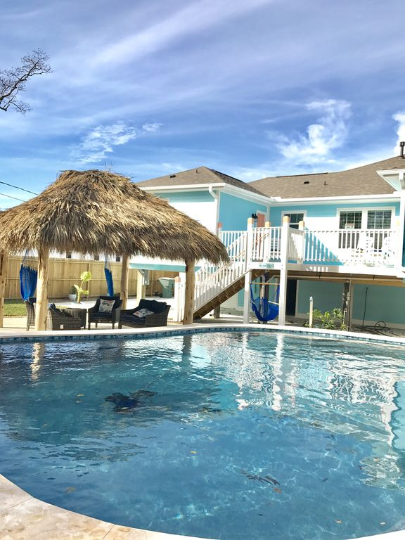 Astounding Completely Remodeled With New Private Pool And Outdoor Paradise Galveston Home Interior And Landscaping Elinuenasavecom