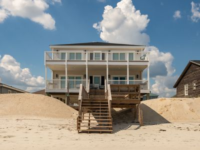 Spacious Oceanfront Beach House w Screened Porches and Amazing Views of Both the Ocean and the Creek!