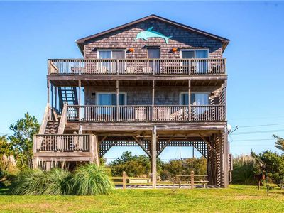 Windsport & Fishing Soundfront Haven- Hot Tub, Cmty Beach Boardwalk, DogFriendly