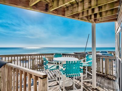Photo for LOCATED ON A BEAUTIFUL BEACH OVERLOOKING THE GULF! OPEN 9/14-21! SLEEPS 6!