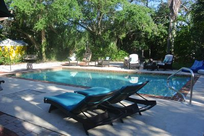 PRIVATE pool with ample lounging/seating