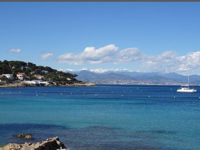 Photo for Apartment Cap d'Antibes sea view direct access to the beach