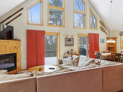 Photo for Family friendly home w/ gas fireplace, deck, & pool table - close to the beach
