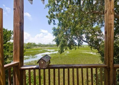Enjoy watching the birds just over the marsh from the comfort of your private deck.