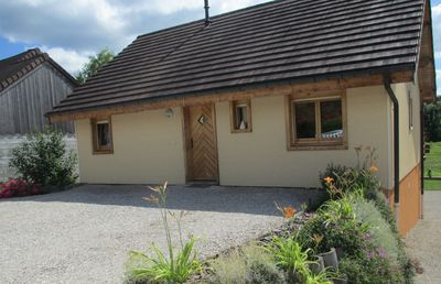 Photo for Warm cottage Clairvaux lakes - 200 m from the beach