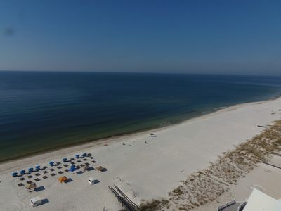View of the gulf from private balcony