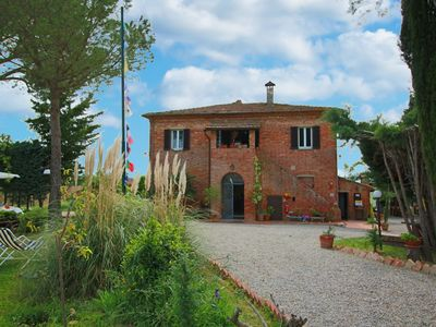 Photo for Organic agriturismo with panoramic view and pool
