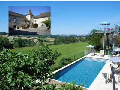 Photo for 4 Star French farmhouse next to Najac Heated Pool 8 p 4 Bdr 3 Bthrms