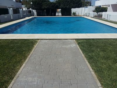 Photo for Family-Friendly Home Close to Beach with Pool, Terrace, Balcony & Wi-Fi; Pets Allowed, Parking Available