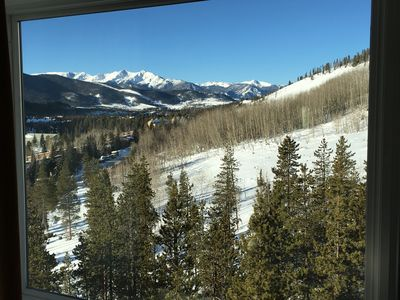Winter view from Master Bedroom Bed. Really, you wake up and see this!!!