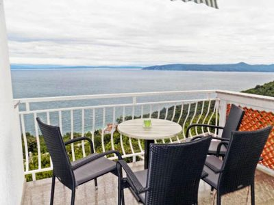 Photo for Two bedroom apartment with terrace and sea view Mošćenice (Opatija)