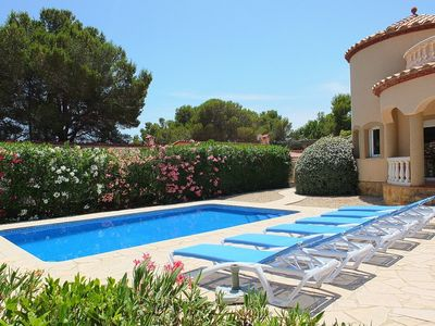 Photo for Beautiful fully air-conditioned villa, private pool, 20mins walk to beach, WIFI