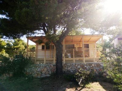 Photo for mobile home Pine Lodge under the shade of a Pine tree and smell of a sea breeze