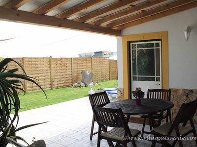 Photo for Modern, quality cottage, calm, pool, beach, view, garden, central location