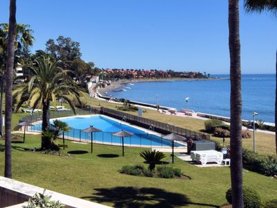 Photo for Majestic Apartment with Pool, Tennis Court, Sea-Views in Estepona
