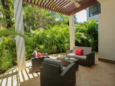 Photo for Family 2 BR Condo with Terrace within Golf course by olahola