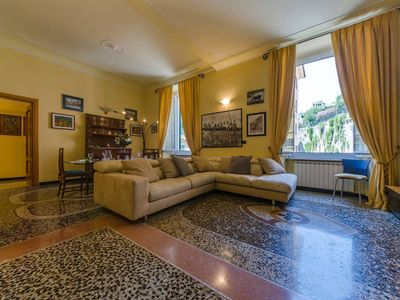 Photo for Spacious Casa Signorile in Centro apartment in Genoa with WiFi & lift.