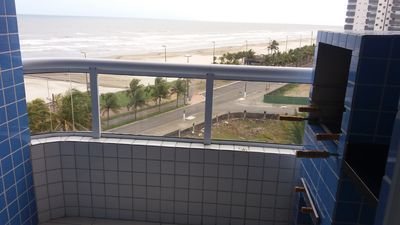 Photo for Ocean front apartment - Vila Mirim - Praia Grande