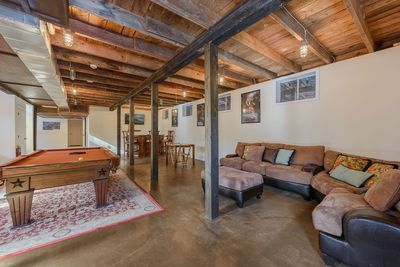 Spacious Lower Level Den, Game Room with plenty of space for a large group