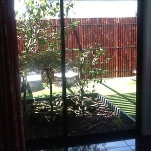 separate outdoor area with seating