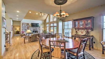 Dining Area keeps all in the picture w/open floor plan to Great Room & Kitchen