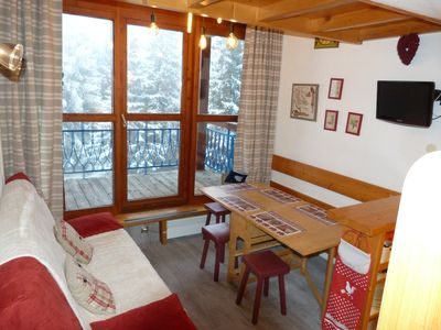 Photo for 2 room apartment 5 people, Arc 1800, ski in / ski out