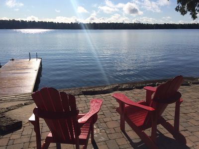 Photo for Lakefront Cottage on Beautiful Balsam Lake $405/night Canadian