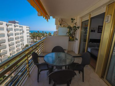 Photo for 2 bedroom apartment with capacity for 4 people with sea views from the terrace 80m from th