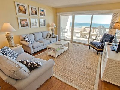 Photo for Queen's Grant E-116 - First Floor Oceanfront Condo with Community Pool, Hot Tub, Boat Ramp and Do...