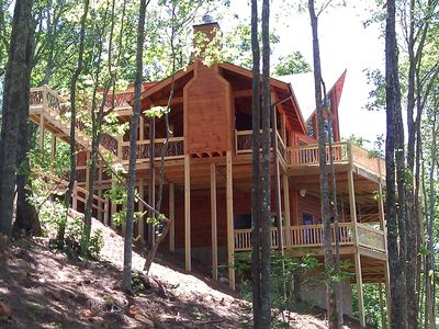 Photo for Aska Mountaintop Cabin with Panoramic Views !