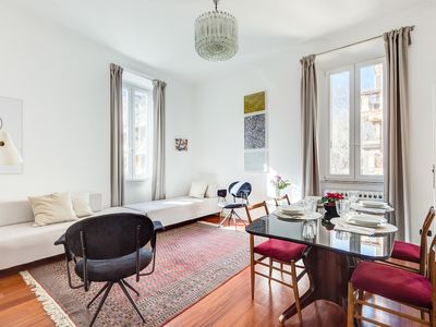 Photo for Art & Design - Trastevere Wood Apartment for 4/6 guests