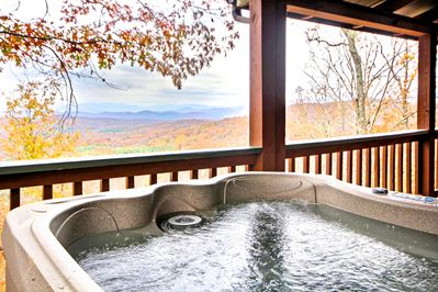 Relax and enjoy the view from the hot tub