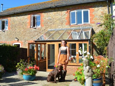 Photo for Attractive stone cottage in idyllic countryside close to Bridport & beaches