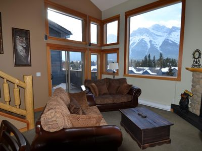 Photo for Cozy loft in the heart of Canmore with best view of the Canadian Rockies