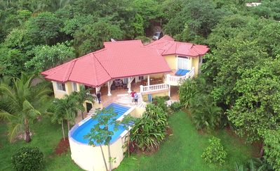 Photo for Luxury villa with amazing ocean, surf and sunset views of Playa Guiones