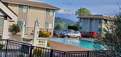 Photo for Beautiful Ground Floor Waterfront Condo w/ Pool and Hottub Access Near Microsoft