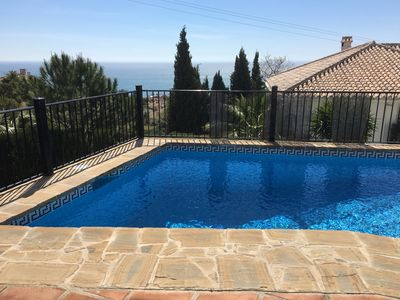 Photo for Beautiful holiday villa with private pool and stunning sea views