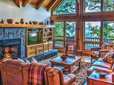 Photo for Luxurious Smoky Mountain Cabin at Top of Mountain