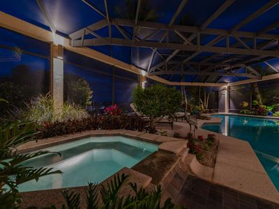 Photo for New Listing! Luxurious Villa w/Resort-Style Heated Pool, Southern Bay Views, Dock, Water Gear & Wifi