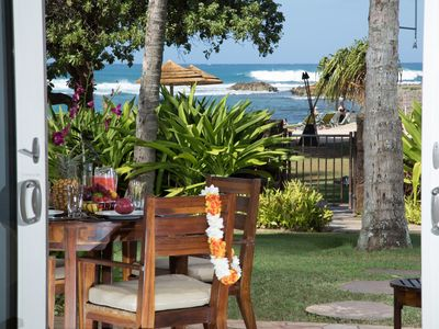 Photo for Direct Ocean View Beach Level 4-bed Villa 102-103 at Turtle Bay!