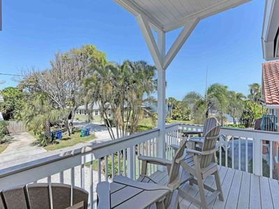Photo for Fun, waterfront home w/ private pool & hot tub - walk to the beach - dogs OK!
