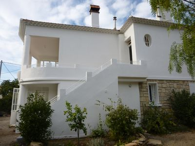 Photo for ground floor of villa 200 meters from the beach of lecques