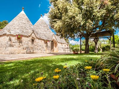 Photo for Trulli with private pool near Alberobello and the Castellana Caves